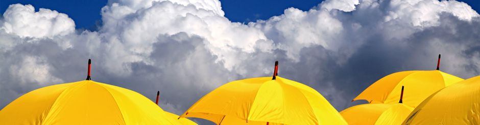 spring_yellow umbrellas & white clouds